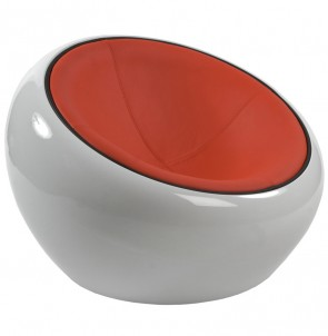 Fauteuil JUPITER wit - rood